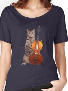 Cello Cat - Meowsicians Women's Relaxed Fit T-Shirt