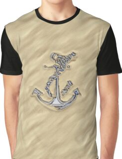 Chrome Anchor in Sand Graphic T-Shirt