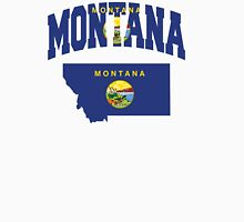 Montana Flag in Montana Map Unisex T-Shirt