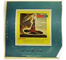 "Brahms 10"" lp record Poster"