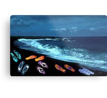 Flip Flop Beach Party Metal Print