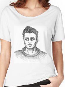James Dean Inspired Art Women's Relaxed Fit T-Shirt