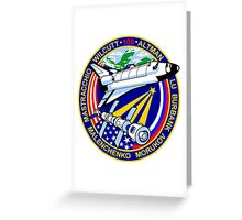 STS-106 Space Shuttle Atlantis Mission Logo Greeting Card