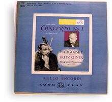 "Cello Encores 10"" lp record Canvas Print"