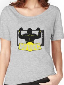 WWC Clean Logo Yellow/Black Women's Relaxed Fit T-Shirt