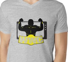 WWC Clean Logo Yellow/Black Mens V-Neck T-Shirt