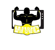 WWC Clean Logo Yellow/Black Photographic Print