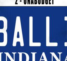 License Plate - BALLIN ON A BUDGET Sticker
