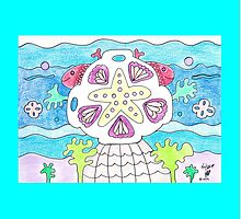Starfish Sand Dollar Beach Design by Kevin Dellinger