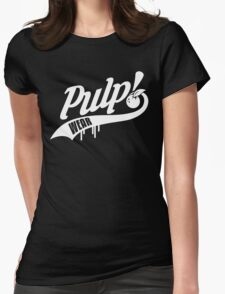 PULP! Baseball Swoosh White Womens Fitted T-Shirt