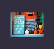 Beach Sign - Textured Womens Fitted T-Shirt