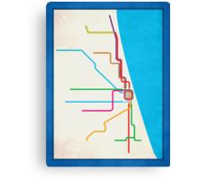 Minimalist CTA Rail Poster Canvas Print