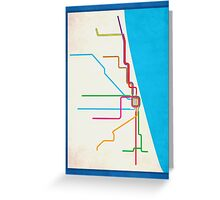 Minimalist CTA Rail Poster Greeting Card