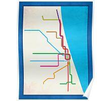 Minimalist CTA Rail Poster Poster