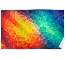 Abstract Multi Color Cubizm Painting Poster