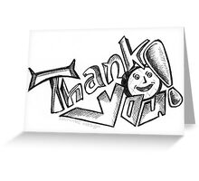 Thank You Card (Typography Design) Greeting Card