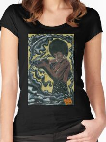 Bad Girls of Motion Pictures #2 (of 9)- Coffy Women's Fitted Scoop T-Shirt