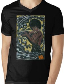 Bad Girls of Motion Pictures #2 (of 9)- Coffy Mens V-Neck T-Shirt