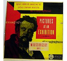 "Pictures At An Exhibition, Moussorgsky 10"" lp record Photographic Print"