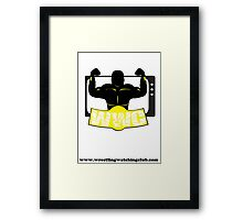 Wrestling Watching Club Clean Logo with Website Framed Print