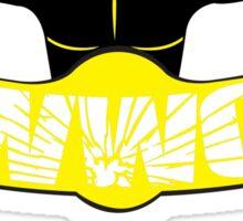Wrestling Watching Club Clean Logo with Website Sticker