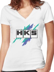 HKS Vintage Women's Fitted V-Neck T-Shirt