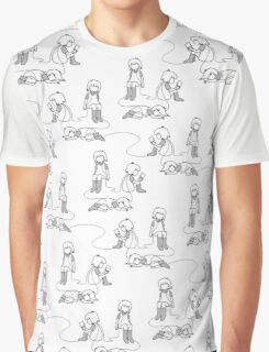 wired grayscale Graphic T-Shirt