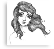 Kate Bush Inspired Illustration Canvas Print