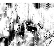 Black And White Splash abstract art Photographic Print