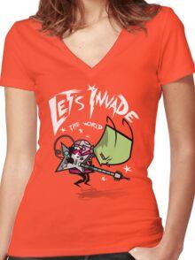 Zim Pilgrim Women's Fitted V-Neck T-Shirt