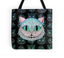 Cheshire Cat (Dark background) Tote Bag