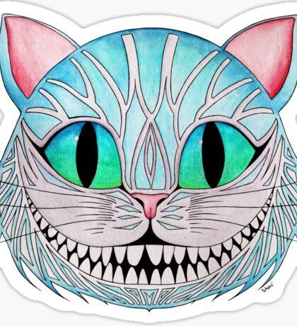 Cheshire Cat (Dark background) Sticker