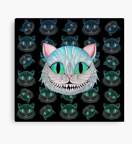 Cheshire Cat (Dark background) Canvas Print