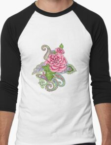 floral tattoo Men's Baseball ¾ T-Shirt