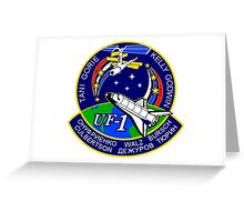 STS-108 Space Shuttle Endeavour Mission Logo Greeting Card