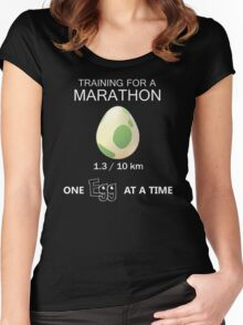 Training for a Marathon Women's Fitted Scoop T-Shirt