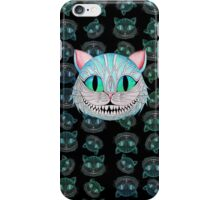 Cheshire Cat (Dark background) iPhone Case/Skin
