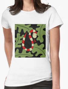 Red snake Womens Fitted T-Shirt