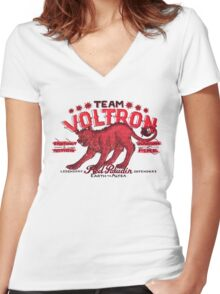 Red Paladin Vintage Shirt Women's Fitted V-Neck T-Shirt