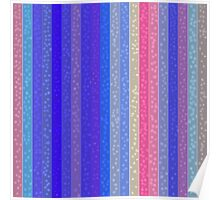 Stripes and Dots in Floral Colors Poster