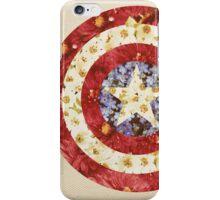 Captain America - Floral Shield iPhone Case/Skin