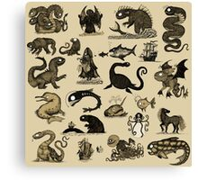 Sea Monsters Collection Canvas Print