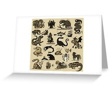 Sea Monsters Collection Greeting Card