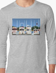 Boats On The Dock Long Sleeve T-Shirt