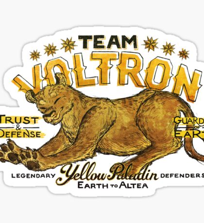 Yellow Paladin Vintage Shirt Sticker