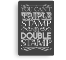 Triple Stamp Dark Canvas Print