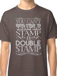 Triple Stamp Dark Classic T-Shirt