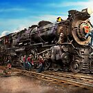 Train - Working on the railroad 1930 by Mike  Savad