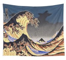 The Great Wave off Kanagawa Tapestry (神奈川沖浪裏 ) Moonlight Edition Tapestry Wall Tapestry