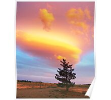 Lone Pine Sunset Storm Cloud Poster